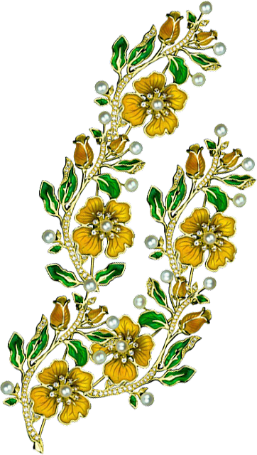 Jwellery Flower PNG for Textile