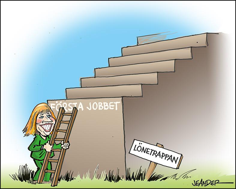 """JEANDERS BILDBLOGG: """"Nyanlända tjänar på enkla jobb med lägre ingångslön"""""""