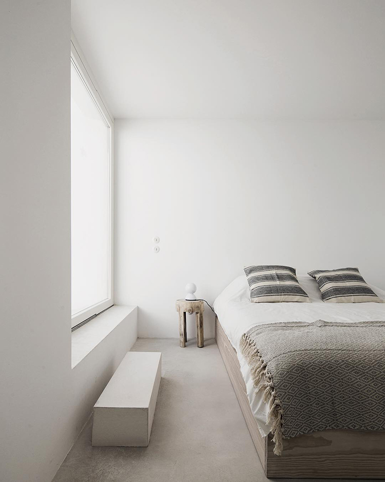 Minimalist rustic bedroom in Casa Luum via Perfect Hideaway