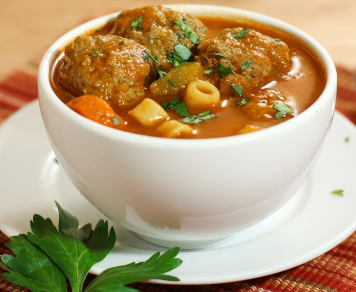A Quick and Hearty Meatball Soup