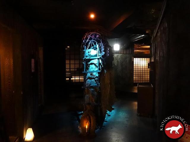 Intérieur du restaurant ninja Kyoto