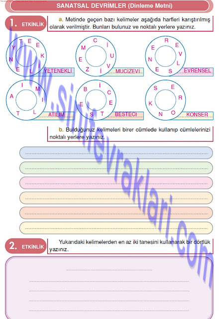 Doku Yayınları 4. Sınıf Türkçe Çalışma Kitabı Cevapları Sayfa 49