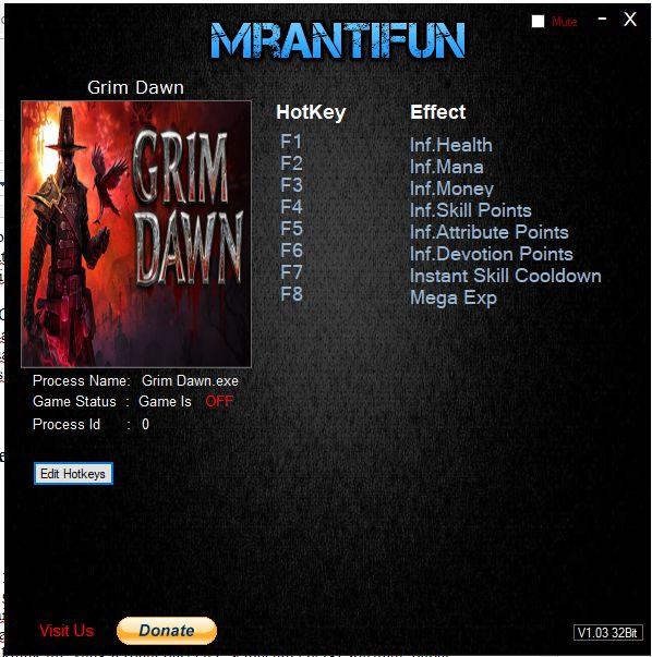 Cheat Game Grim Dawn PC