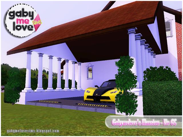 Gabymelove's Mansion |NO CC| ~ Lote Residencial, Sims 3. Estacionamiento.