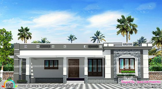158 sq-m flat roof single floor home