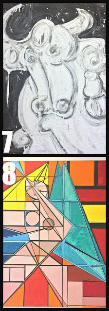 "7 ""Night Sweats"" by Ward Capeci  8 ""Angel II"" by Valarie Wolf"