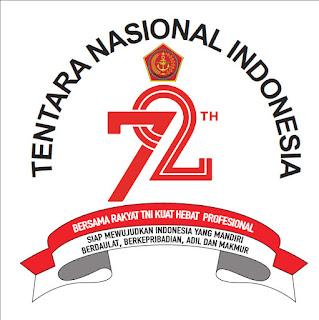 Logo Hut TNI ke-72