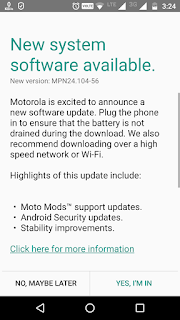 Moto Z play Update