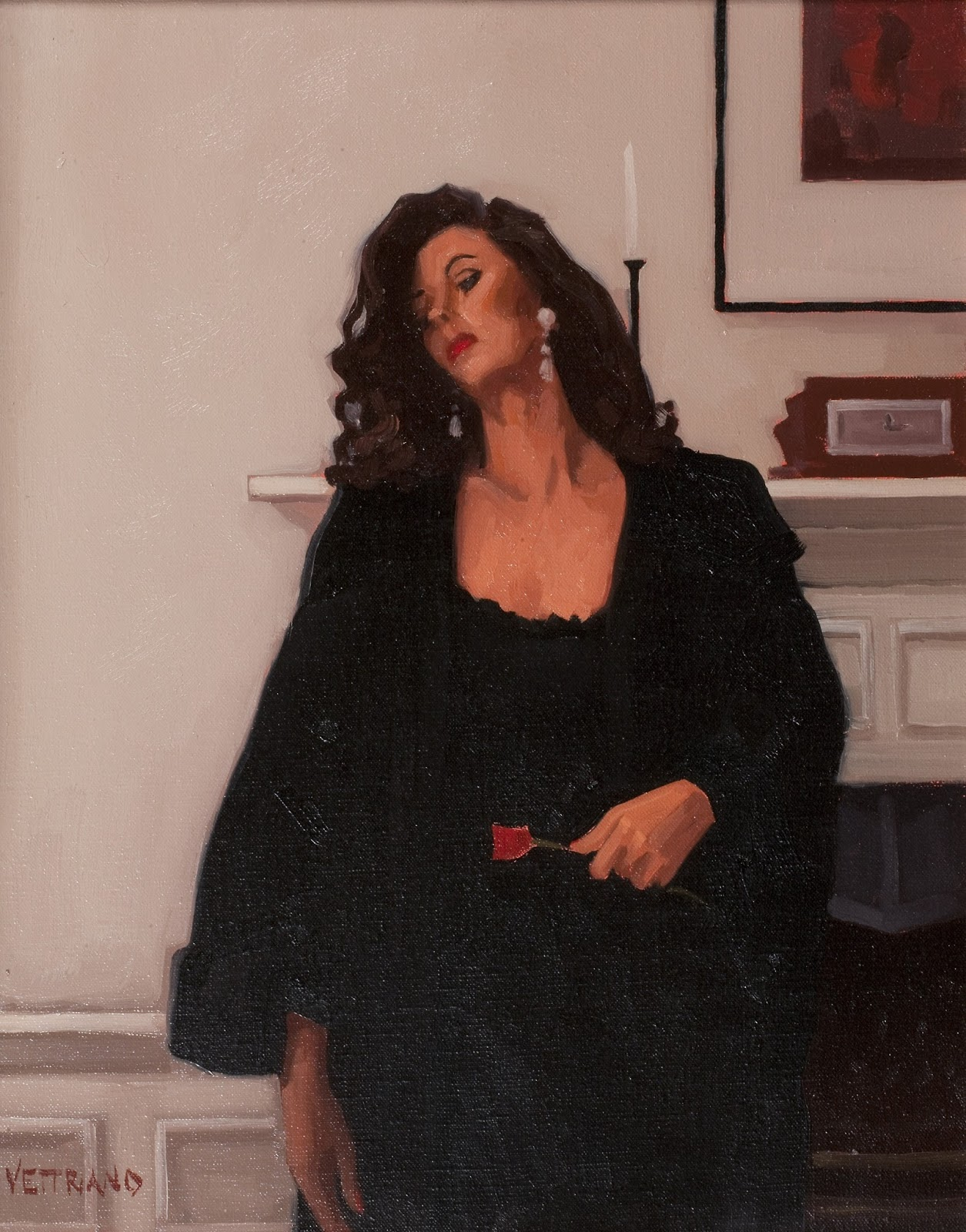 Jack  Vettriano  Only  a  rose