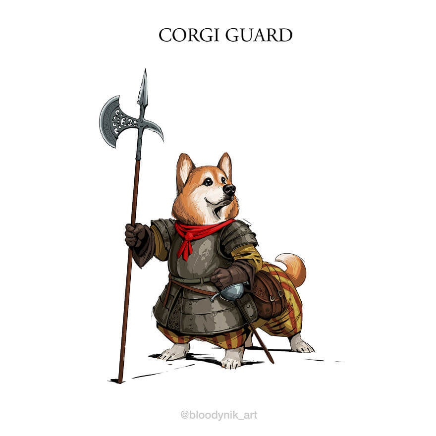 06-Corgi-Guard-Nikita-Orlov-Mythical-Dog-Centaur-Digital-Paintings-www-designstack-co