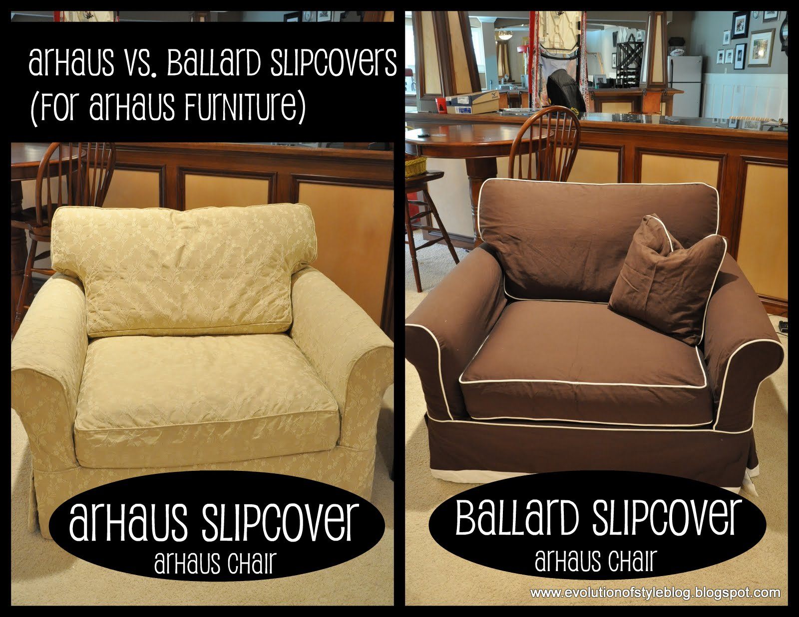 Outstanding Slipcovers Arhaus Vs Ballard Evolution Of Style Machost Co Dining Chair Design Ideas Machostcouk