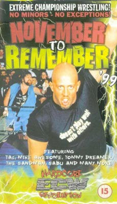 Image result for ecw november to remember 1999