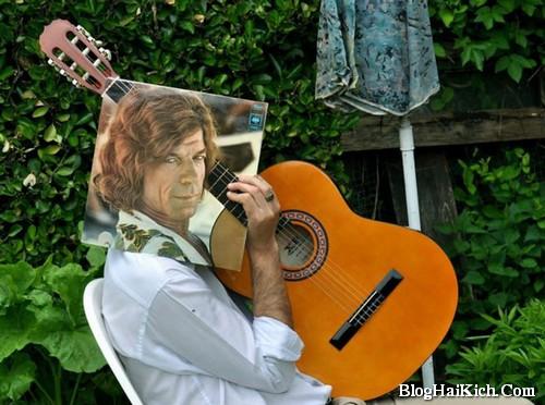 Ảnh ghép nghệ thuật nghệ sĩ guitar