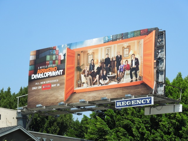 Arrested Development 4 netflix billboard