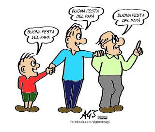 festa del papà, 19 marzo, vignetta