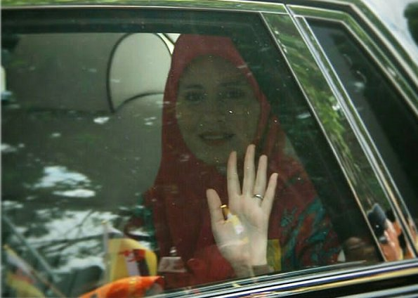 Queen Saleha at Bandar Seri Begawan of Brunei