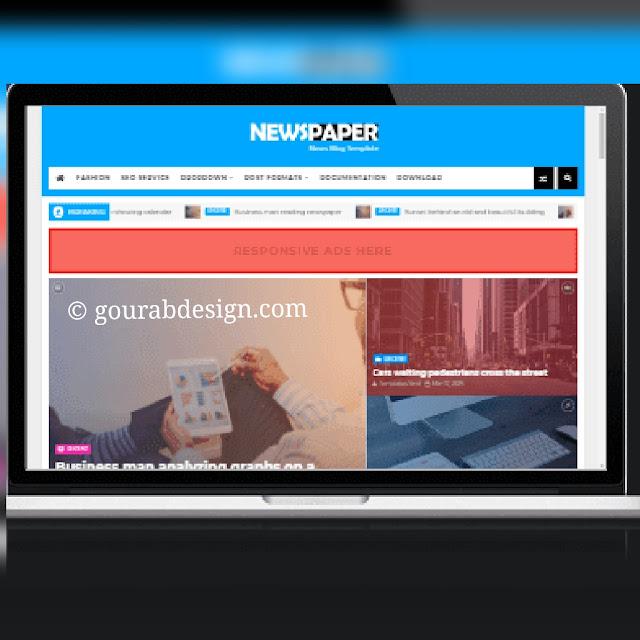 Newspaper responsive blogger template