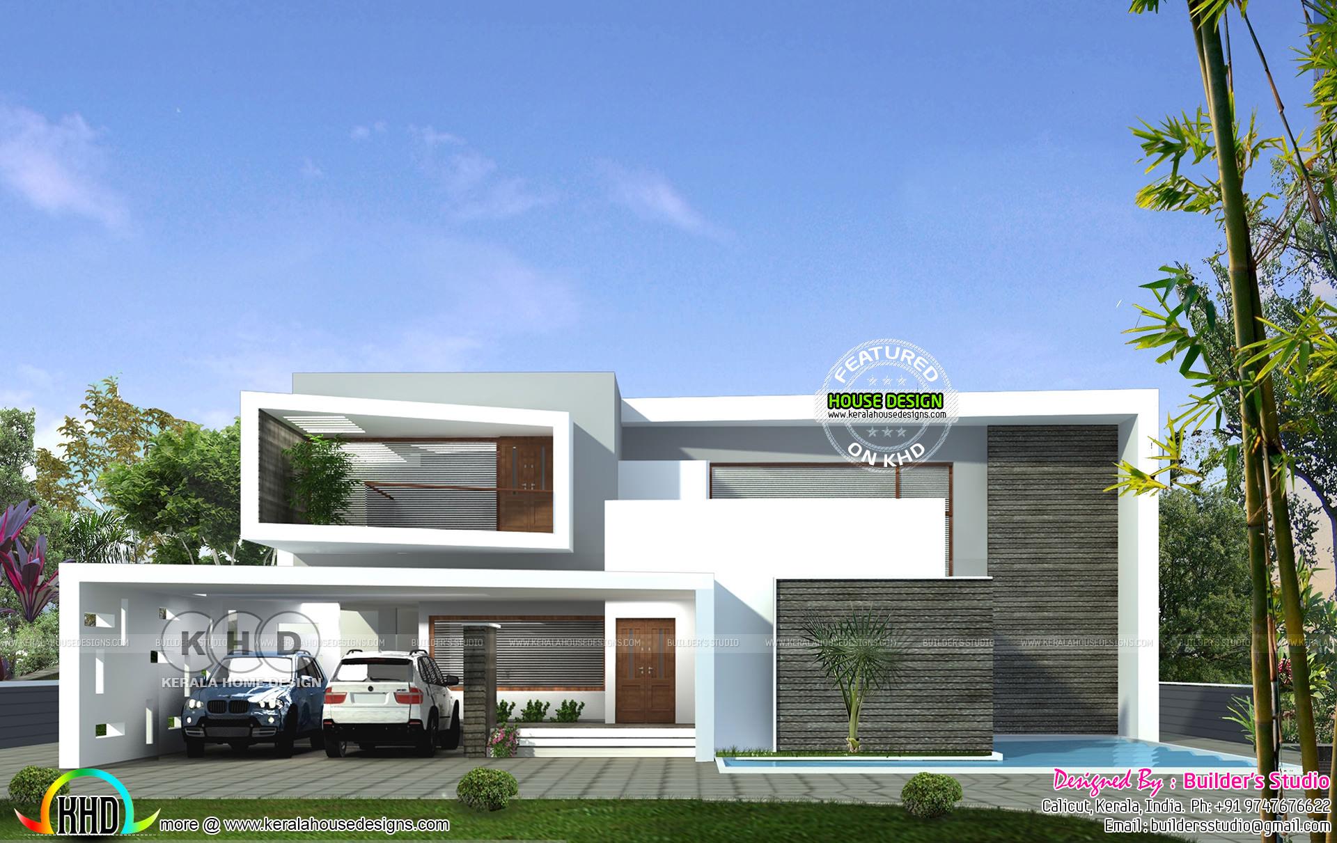 Ultra modern 4 bedroom 3000 sq-ft home - Kerala home ...