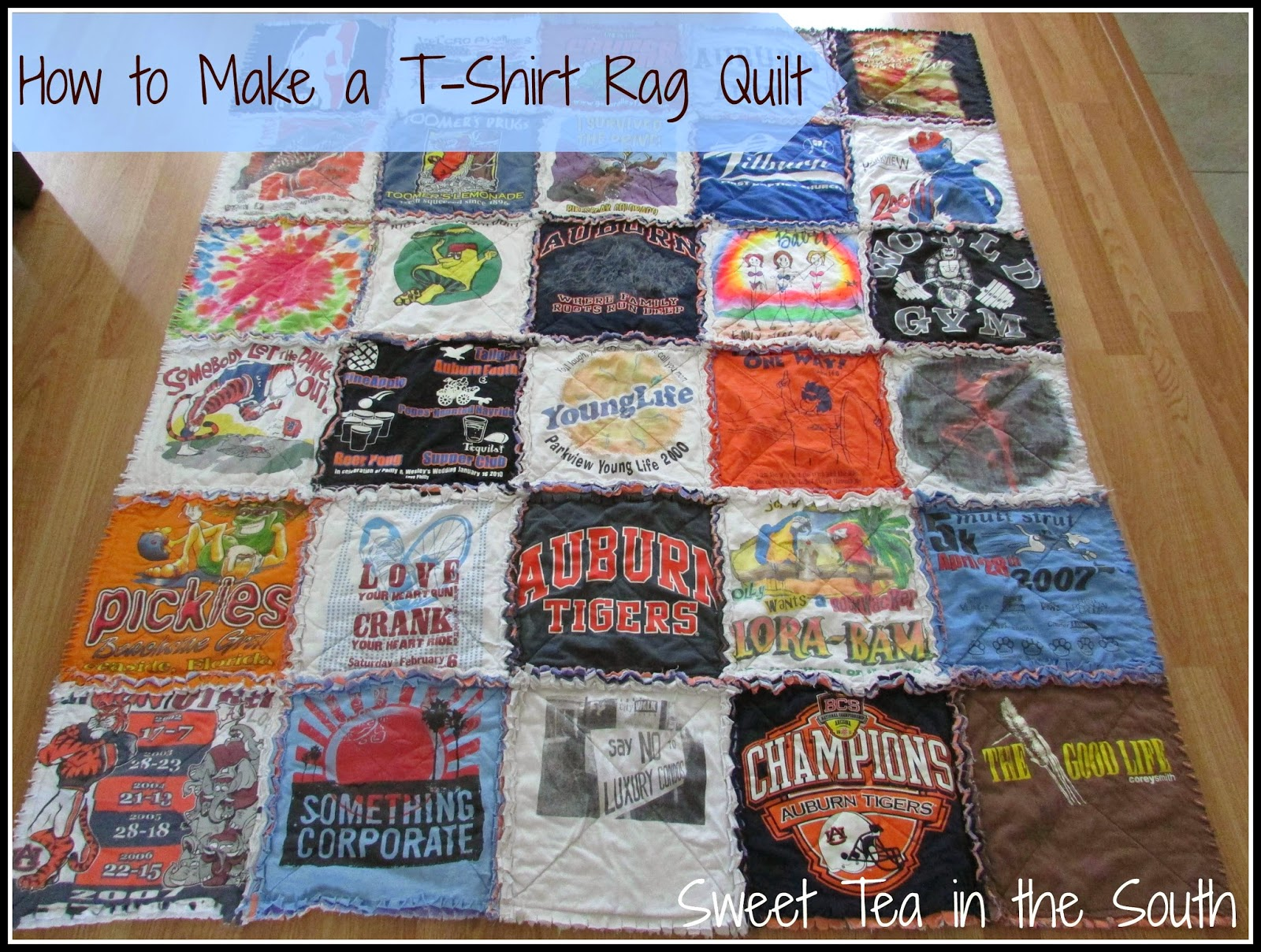 Sweet Tea In The South How To Make A T Shirt Rag Quilt