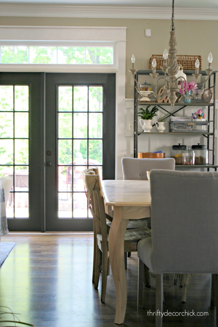 Black French Doors With Grids