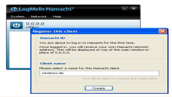 Hamachi screenshot 3