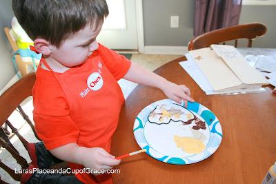painting with toddler, homeschool art, preschool homeschool