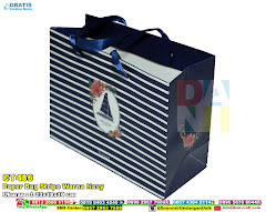 Paper Bag Stripe Warna Navy