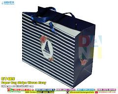 Paper Bag Stripe Warna Navy