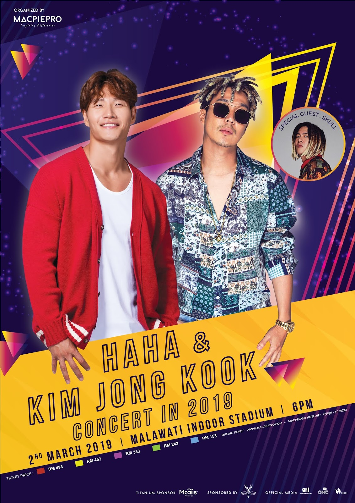 MACPIEPRO CRAZY 20 ANJUR HAHA & KIM JONG KOOK CONCERT IN 2019 DI MALAYSIA