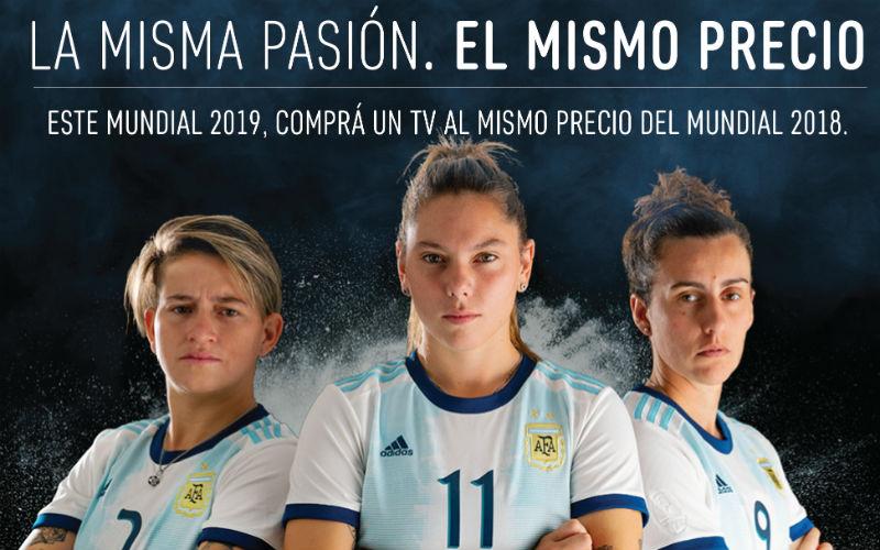 La campaña de Noblex para el Mundial femenino