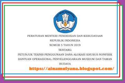 serta membentuk aksara bangsa Indonesia PERMENDIKBUD NOMOR 5 TAHUN 2019 TENTANG JUKNIS BOP MUSEUM DAN TAMAN BUDAYA (BOP MTB) 2019