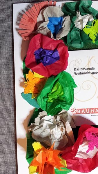 Geschenkgutschein aus Seidenblumen