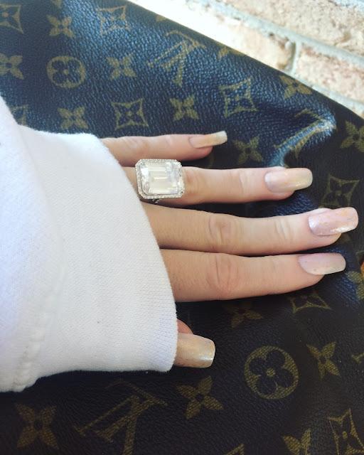 19.57 TCW Emerald Cut CZ Halo Ring Platinum