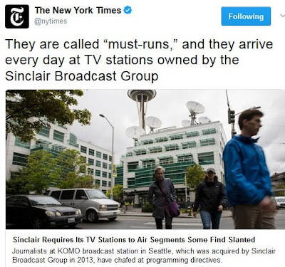 Image result for sinclair broadcast group propaganda