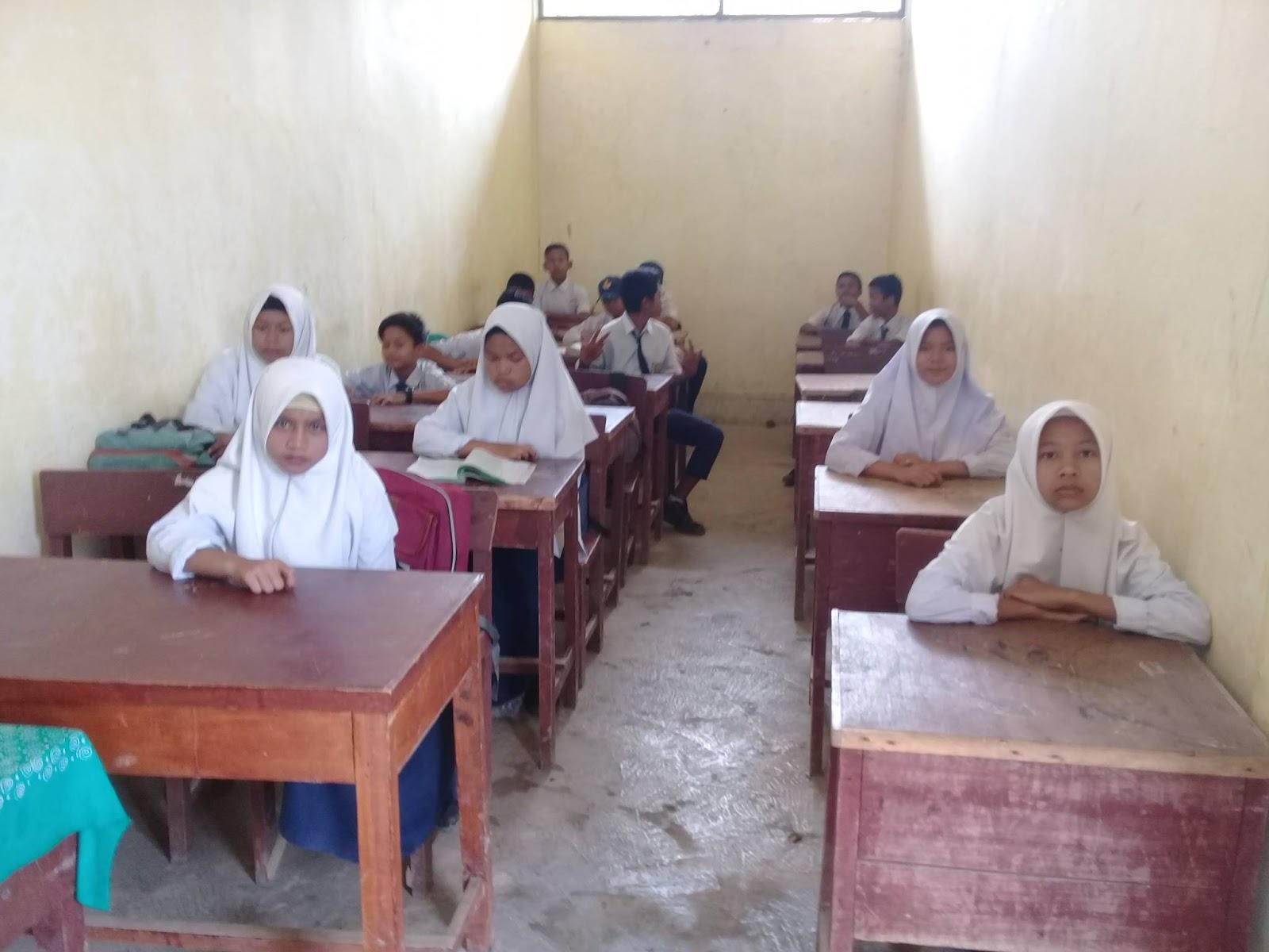Salah satu ruang belajar di SMP Negeri 2 Angkola Muaratais