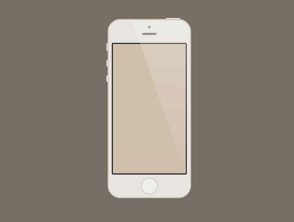 iPhone 5S Gold Mockup PSD