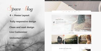 Space WordPress Blog Theme Free Download