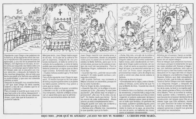 Historia De La Virgen De Guadalupe En Imagenes Para Colorear
