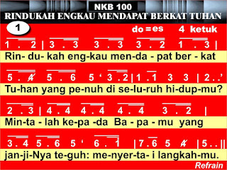 Lirik dan Not NKB 100 Rindukah Engkau Mendapat Berkat Tuhan