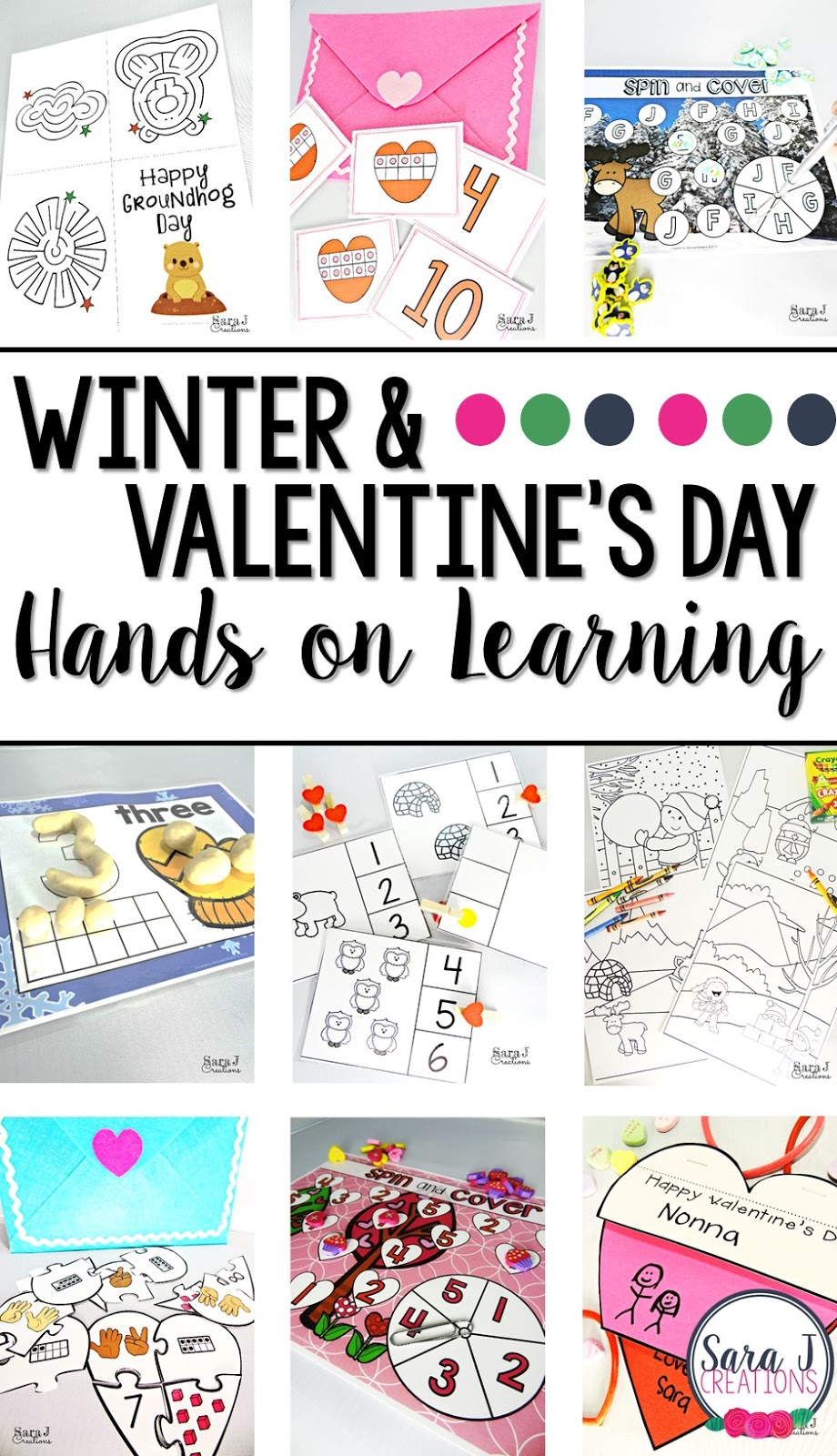 Winter Fun + Valentine\'s Day FREEBIES | Sara J Creations
