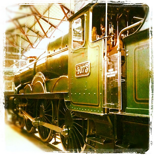 a green steam engine