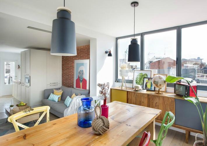 Color y luz en una vivienda de Barcelona