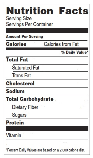 nutrition facts label template download - healthclass