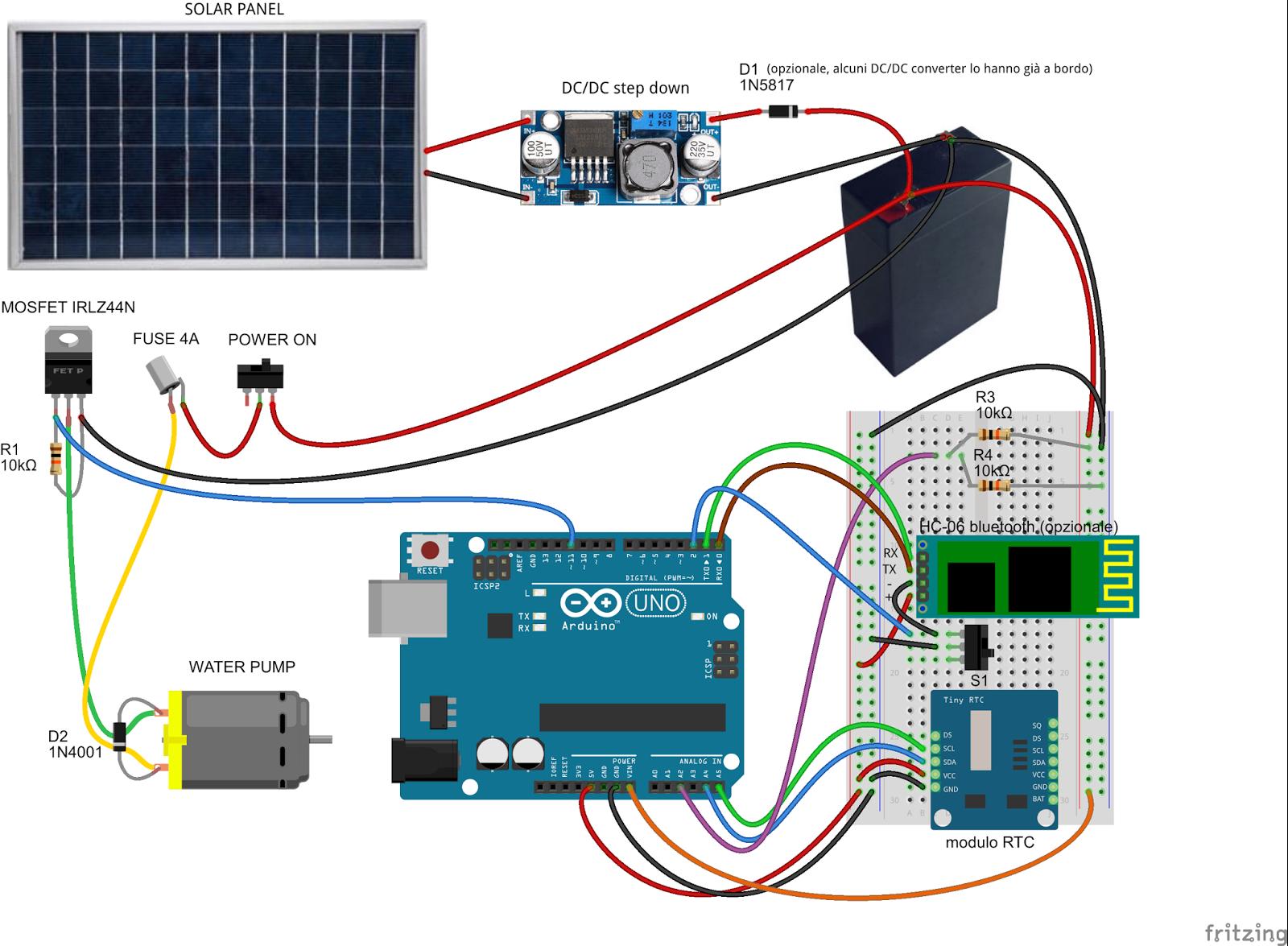 Pannello Solare Con Arduino : Daniele alberti arduino s sistema di irrigazione