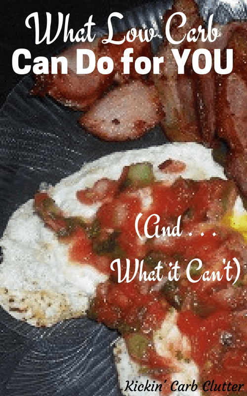 Pinterest Image: Fried Egg with Salsa and Lean Bacon