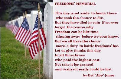 Memorial Day - In Honor of Those Who Died Serving