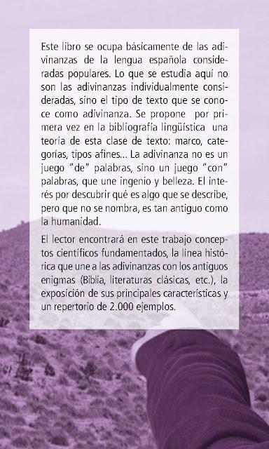 """Presentación de libro: """"Teoría e Historia de las adivinanzas""""."""