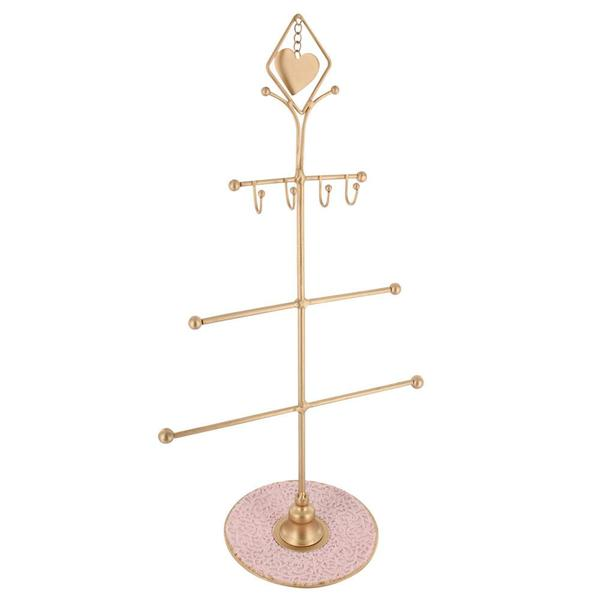Display your Valentine pieces with the Metal Jewelry Display Organizer Stand with Heart Charm.