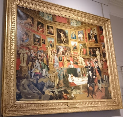 Tribuna of the Uffizi by J Zoffany (1772-8)  Lent by Her Majesty the Queen
