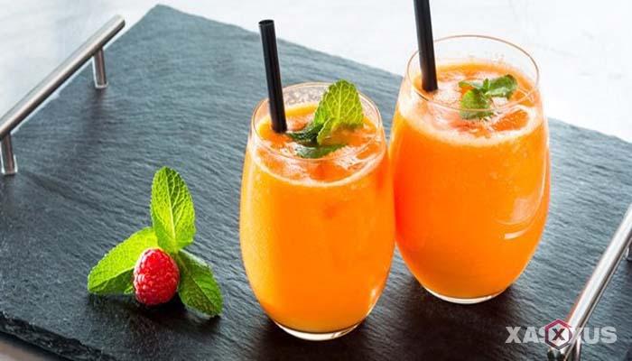 Resep cara membuat jus mangga campur nanas dan tomat